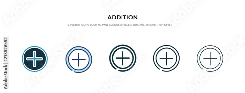 addition icon in different style vector illustration Wallpaper Mural