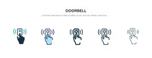 Doorbell Icon In Different Sty...