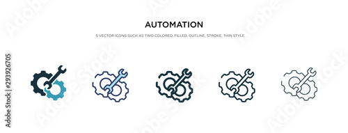 automation icon in different style vector illustration Wallpaper Mural
