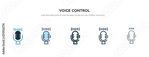 Tablou Canvas voice control icon in different style vector illustration