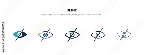 Tablou Canvas blind icon in different style vector illustration