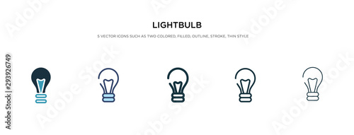 Obraz na płótnie lightbulb icon in different style vector illustration