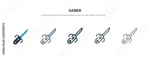 saber icon in different style vector illustration Canvas Print