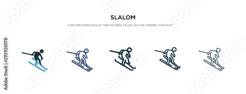 Fotografía  slalom icon in different style vector illustration
