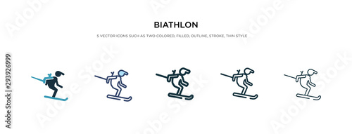 biathlon icon in different style vector illustration Canvas Print