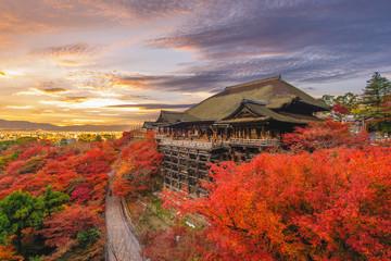 Kiyomizu-dera stage at kyoto, japan in autumn