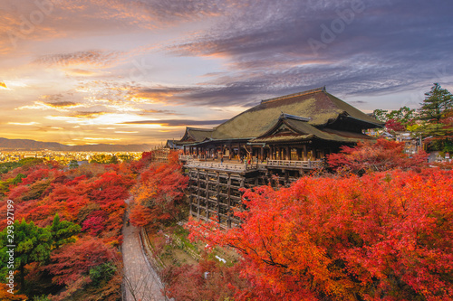 Kiyomizu-dera stage at kyoto, japan in autumn