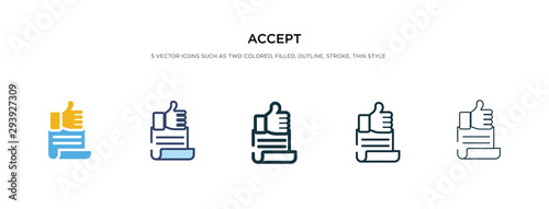 accept icon in different style vector illustration Canvas Print