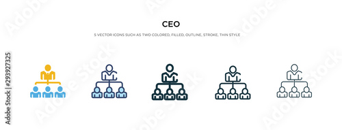ceo icon in different style vector illustration. two colored and black ceo vector icons designed in filled, outline, line and stroke style can be used for web, mobile, ui