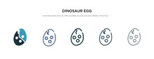 Dinosaur Egg Icon In Different...
