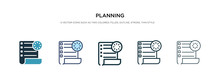 Planning Icon In Different Sty...