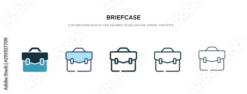 Photo briefcase icon in different style vector illustration