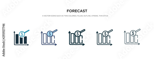 Obraz forecast icon in different style vector illustration. two colored and black forecast vector icons designed in filled, outline, line and stroke style can be used for web, mobile, ui - fototapety do salonu