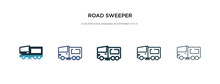 Road Sweeper Icon In Different...
