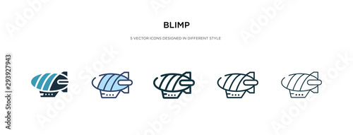 blimp icon in different style vector illustration Wallpaper Mural