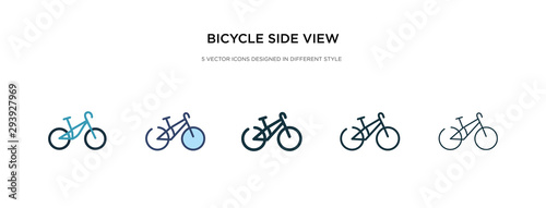 bicycle side view icon in different style vector illustration Wallpaper Mural