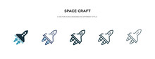 Space Craft Icon In Different ...