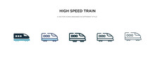 High Speed Train Icon In Diffe...