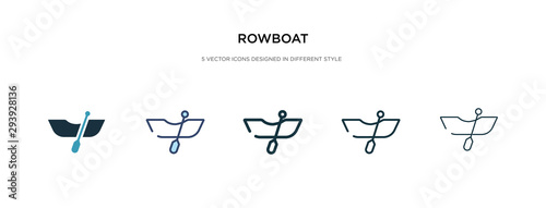 Fotografia rowboat icon in different style vector illustration