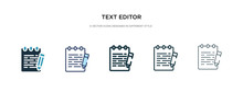 Text Editor Icon In Different ...