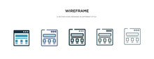 Wireframe Icon In Different St...