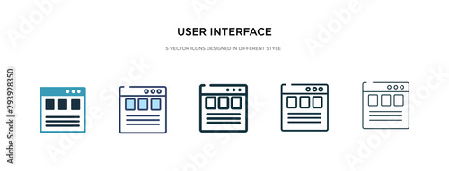 Fotografía  user interface icon in different style vector illustration