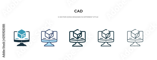 Fotomural  cad icon in different style vector illustration