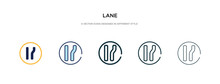 Lane Icon In Different Style V...