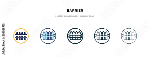 barrier icon in different style vector illustration Wallpaper Mural