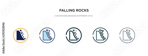 falling rocks icon in different style vector illustration Wallpaper Mural