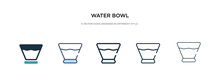 Water Bowl Icon In Different S...