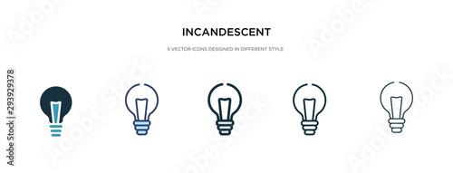 Valokuvatapetti incandescent icon in different style vector illustration