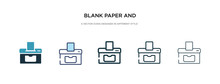 Blank Paper And Printer Icon I...