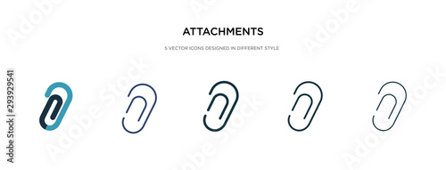 Photo attachments icon in different style vector illustration