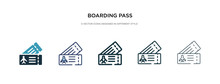 Boarding Pass Icon In Differen...