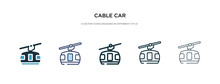 Cable Car Icon In Different St...