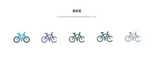 Bike Icon In Different Style V...