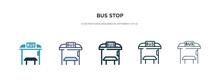 Bus Stop Icon In Different Sty...