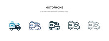 Motorhome Icon In Different St...