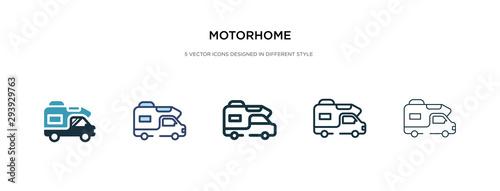 Fotografía motorhome icon in different style vector illustration