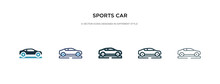 Sports Car Icon In Different S...