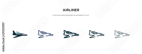 airliner icon in different style vector illustration Wallpaper Mural