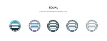 Equal Icon In Different Style ...