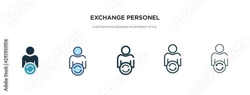 Fototapeta exchange personel icon in different style vector illustration