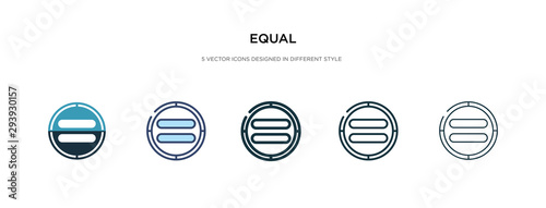 Fotografie, Obraz equal icon in different style vector illustration