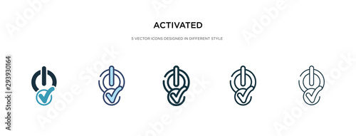 activated icon in different style vector illustration Canvas Print