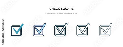 Obraz na plátne check square icon in different style vector illustration