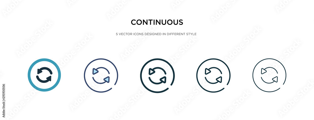 Fototapeta continuous icon in different style vector illustration. two colored and black continuous vector icons designed in filled, outline, line and stroke style can be used for web, mobile, ui