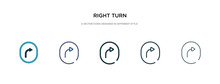 Right Turn Icon In Different S...