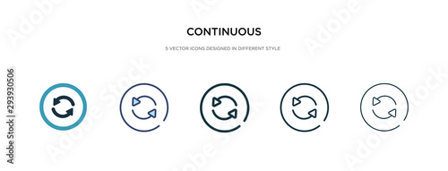 continuous icon in different style vector illustration Wallpaper Mural